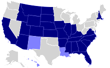 States with English already as their official language