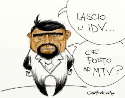 figlio idv mtv Gava satira vignette Cristiano Di Pietro