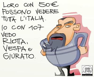 Canone rai Lega gava satira vignette