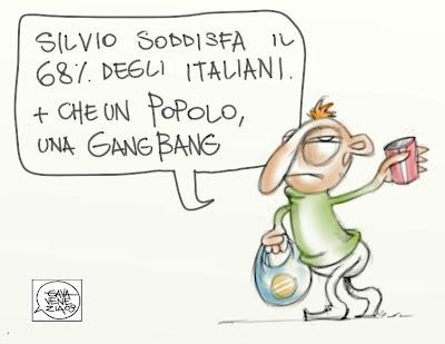 Gava Satira Vignette gang bang Berlusconi