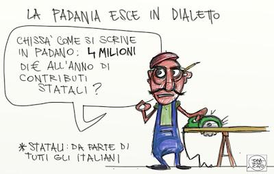 Gava Satira Vignette contributi statali Lega Padania