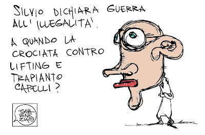 Gava Satira Vignette Berlusconi lifting trapianto di capelli