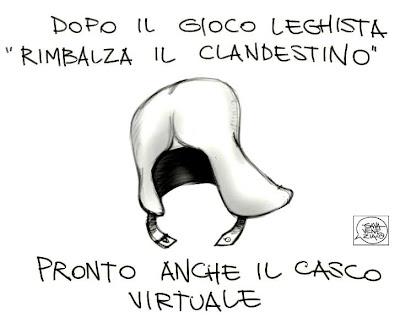 Gava Satira Vignette casco virtuale Lega