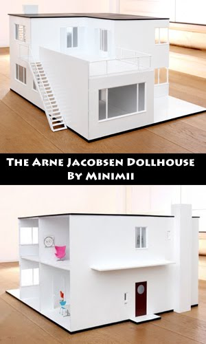 the arne jacobsen minimii dollhouse 116 scale 840 eur pre order end of july in stores oct 2010 by minimii minimii also sells furniture more photos brinca dada bennett house modern dolls