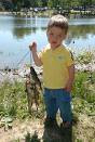 Look Dad, how many fish I caught!