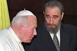 Legendarny papiez z legendarnym towarzyszem