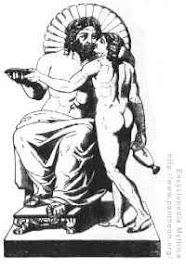Zwus (Ojciec Apolla) i Ganymed