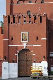Kremlowska Wieza Zbawiciela z nowoodkryta ikona