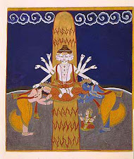 Shiva reveals himself in linga