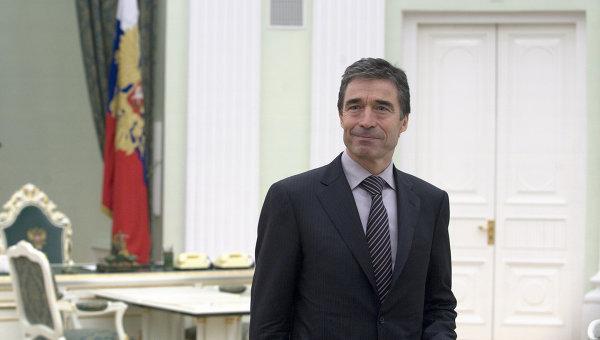 Rasmussen w Moskwie 2 listopada 2010 r.