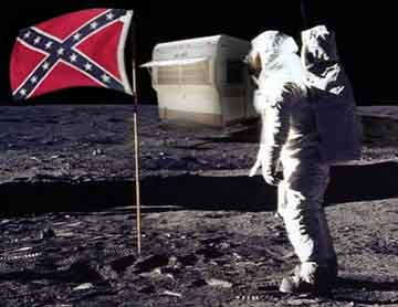 Honoring the Confederate Flag on the Moon