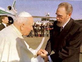 Jan Pawel II i Castro