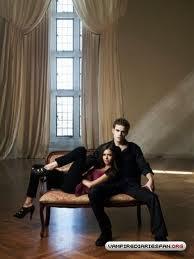 Paul Wesley y Nina Dobrev.