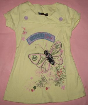 Dress Guess Butterfly Kuning 2-12thn Rp.65.000,-