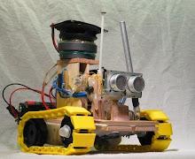 Funky robot drummer