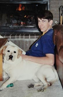 Jon Bottom with a Guide Dog puppy