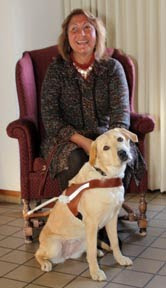 Sylvia Munoz and her new Guide Dog, Nina