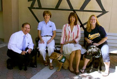 The puppy raisers and their pup of the Las Virgenes Unified School District