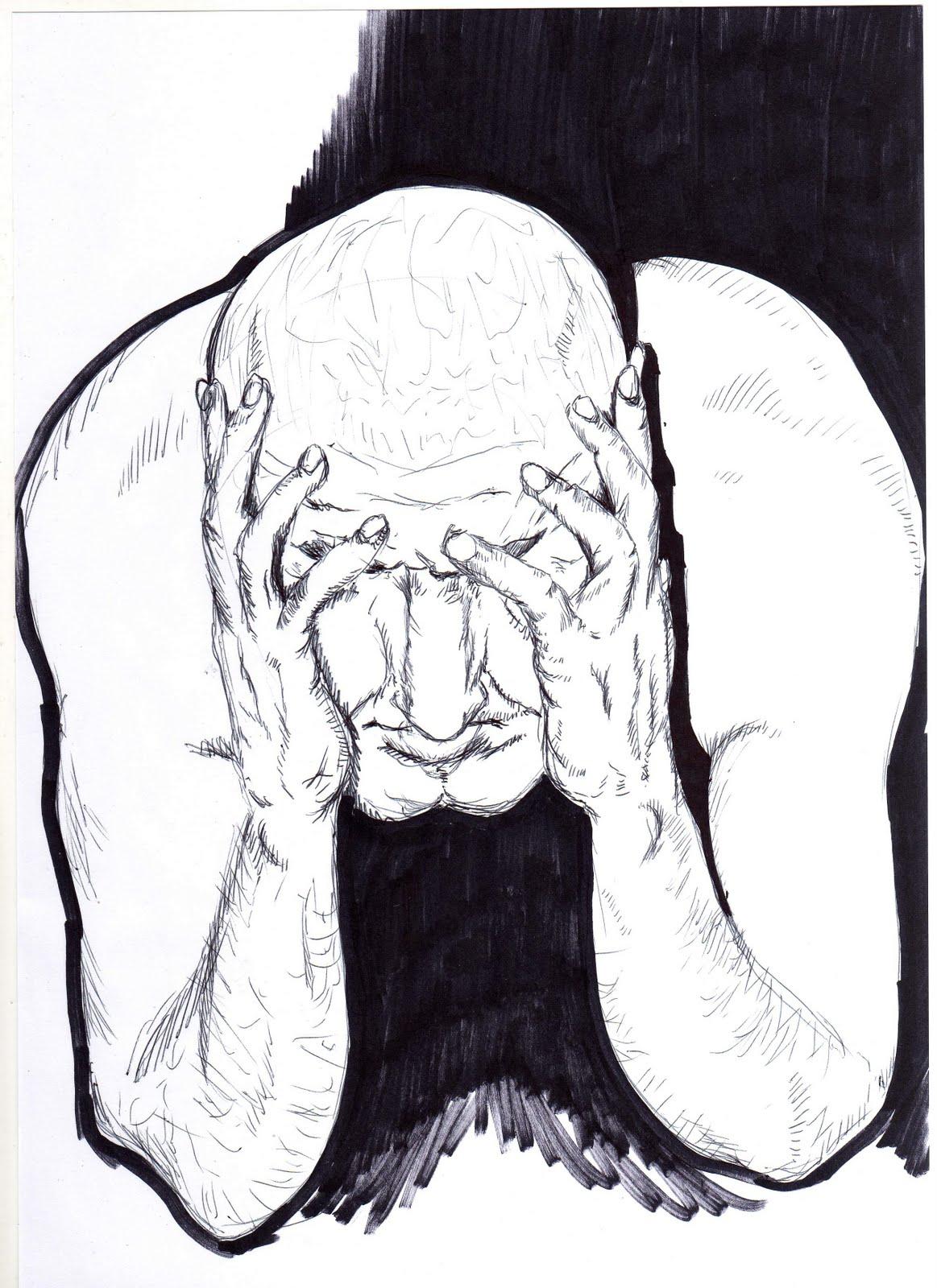 hombre dibujo: