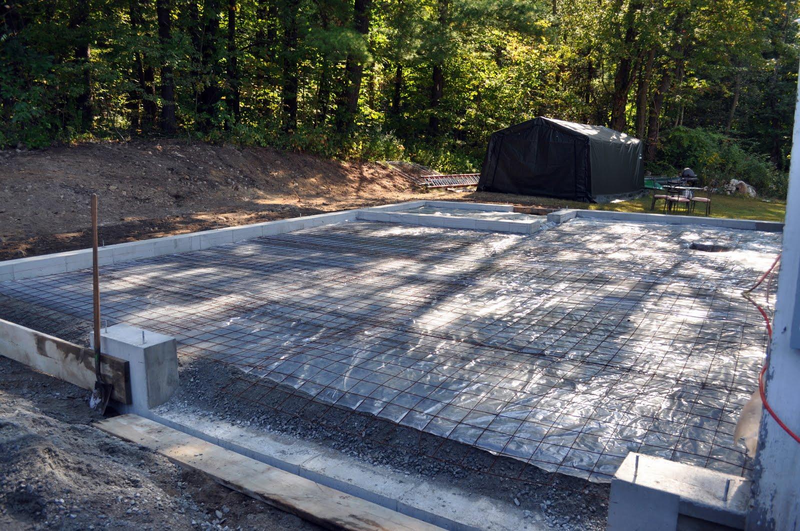 The grange house garage foundation and slab finished for Concrete slab for garage