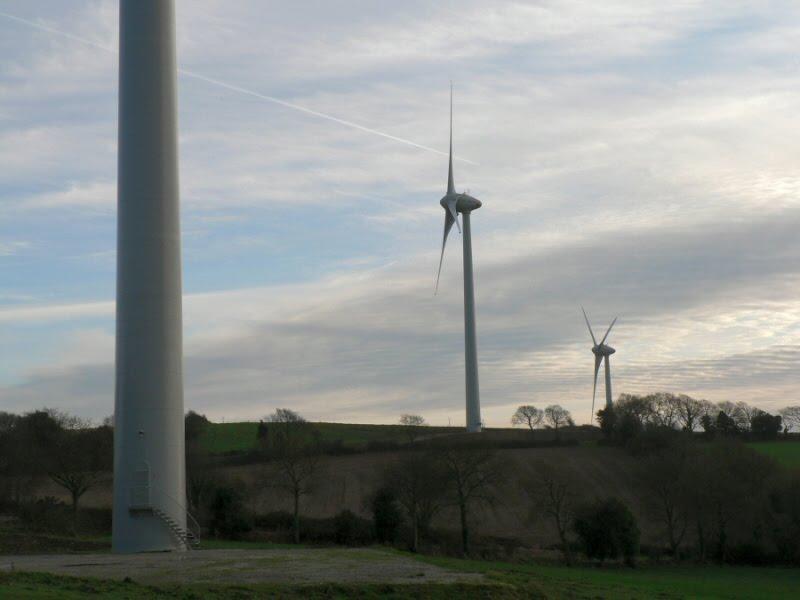 Les éoliennes de Saint-Coulitz