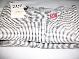 pantalon corto cuadros blanco y negro de krp