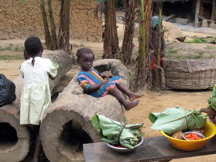 Girl Of Adiyaw Enjoys The Living Room Furniture Ghana 2007