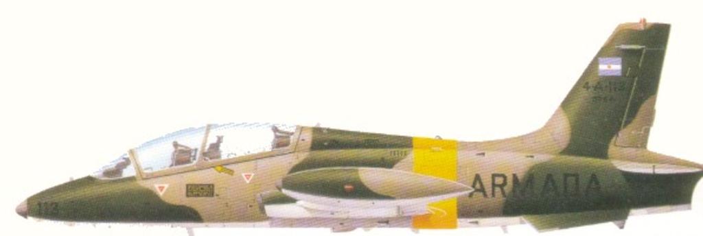 Aeronaves que participaron en la contienda. Aermacchi+MB+339+(1)