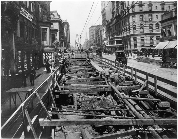 New york subway system built property