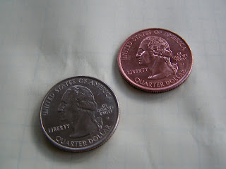copper plated quarters