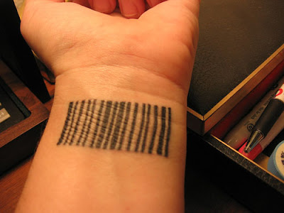 Barcode Tattoo on Barcode Tattoos Aren T Uncommon Any More  Upc Barcodes Are The Most