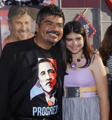 George  Lopez and daughter