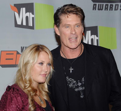David  Hasselhoff and daughter Hayley