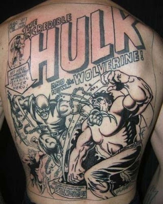 body art gives them the feeling of being a superhero? Who knows.. Comic