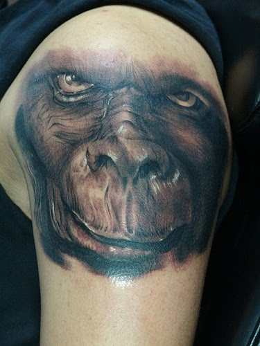 Well this month it was Kat Von D tattoo artist off the show LA Ink and owns. I've wanted a monkey tattoo for years but had never found one that suited me