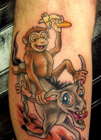 monkey tattoo, then look further down in our monkey tattoo gallery and