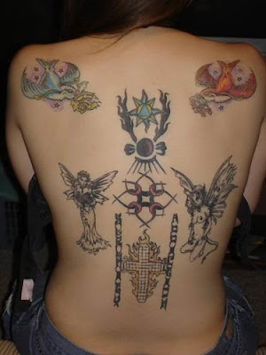 women back tattoo