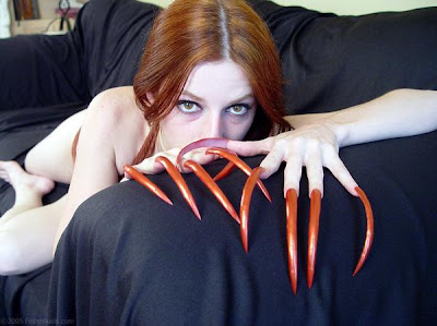 A women with worlds most largest nails