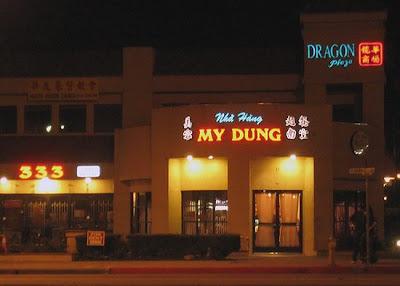 Strange and humorous restaurant
