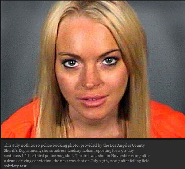 Lindsay Lohan's mugshot deconstructed | Fashion | The Guardian