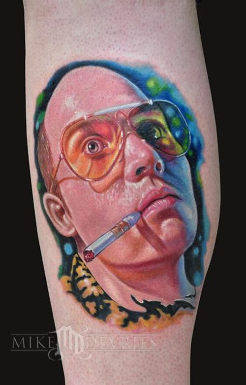 40 amazing tattoos damn cool pictures for Hunter s thompson tattoos