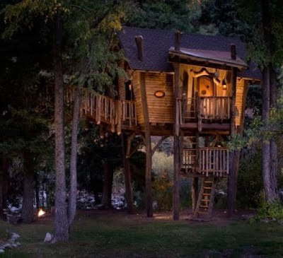 Hanging Tree house - coolest hanging  Tree House Seen On www.coolpicturegallery.us
