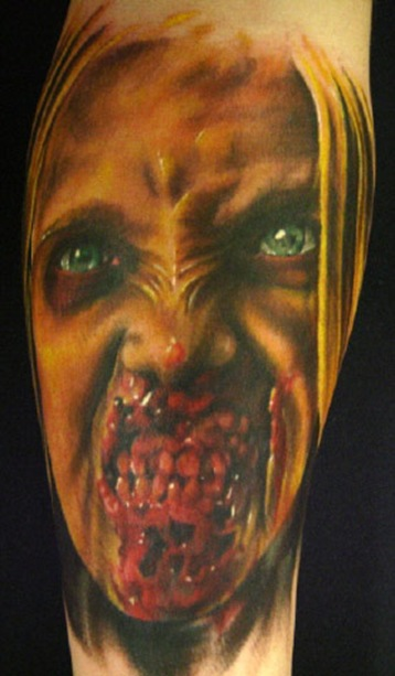 20 Gruesome Zombie Tattoos