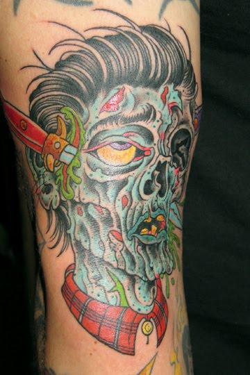 gruesome zombie tattoos damn