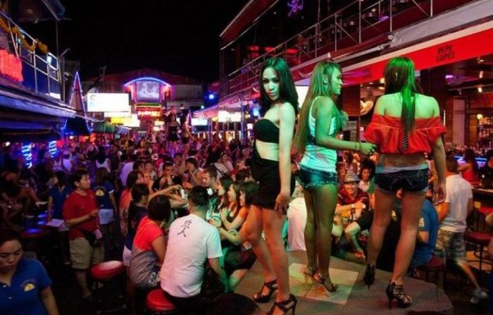 Red Light District in Patong, Thailand