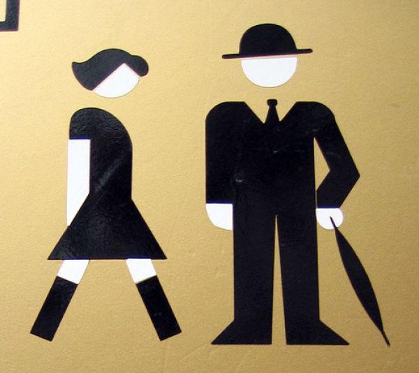 Letrero Baño Vintage:Funny Public Restroom Signs