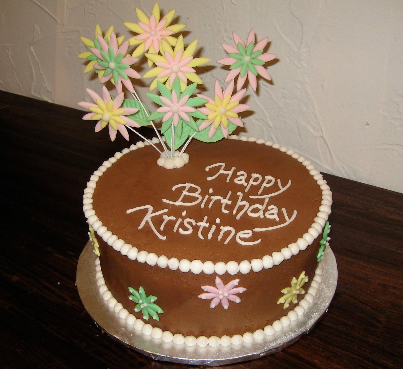 Mindas Cakes Happy Birthday Sissy