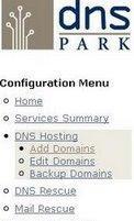 dns park add domain