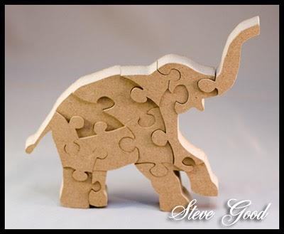 Scrollsaw Workshop Scroll Saw Standing Elephant Puzzle