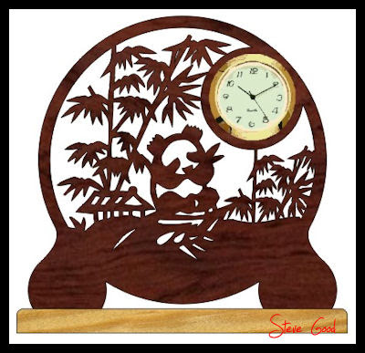 Scroll Saw Woodworking & Crafts - Wooden Gear Clock